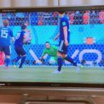 ワールドカップ 前半5分 日本対コロンビア  香川がpk先制点 1対0