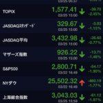 TOPIX -2.45% PF -1.5% 3月分 優待クロスと新規購入