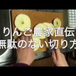 りんご農家直伝!りんごの捨てるところの少ない便秘にも効果的な切り方を動画でご紹介!